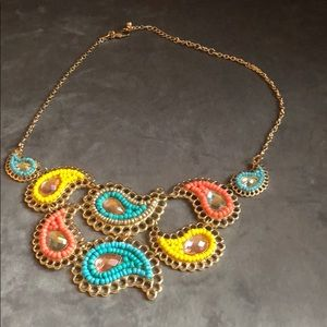 Charming Charlie paisley necklace